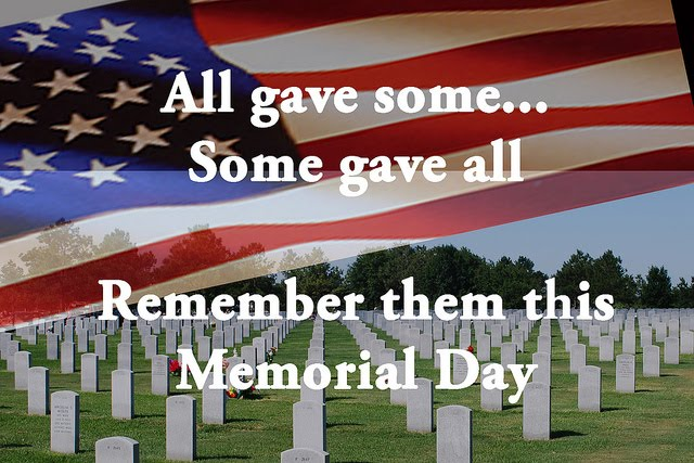 Memorial Day - May 27th, 2019