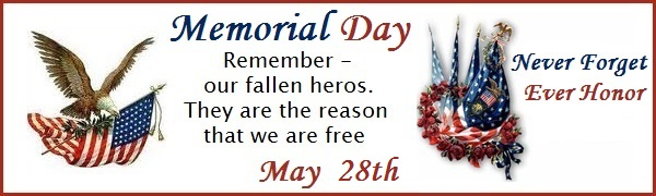 Memorial Day - May 30th, 2016